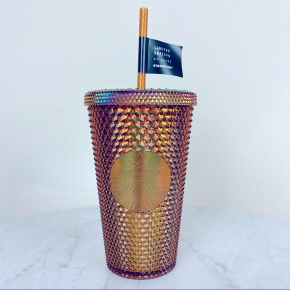 Starbucks 50th Anniversary Copper Studded Tumbler